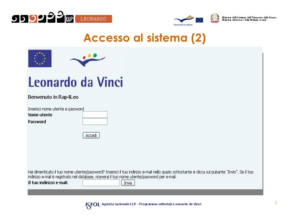 Accesso al sistema (2)