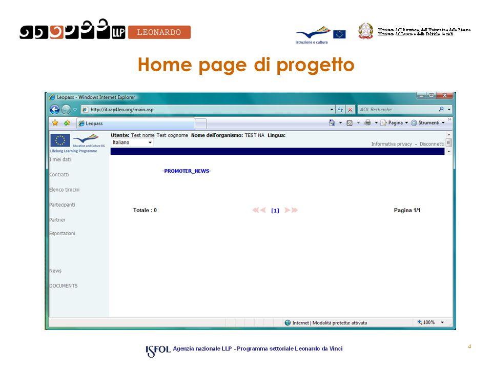Home page di progetto