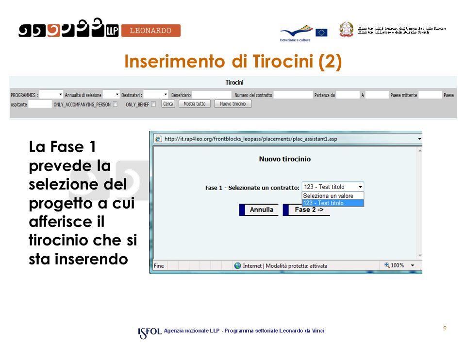 Inserimento di Tirocini (2)