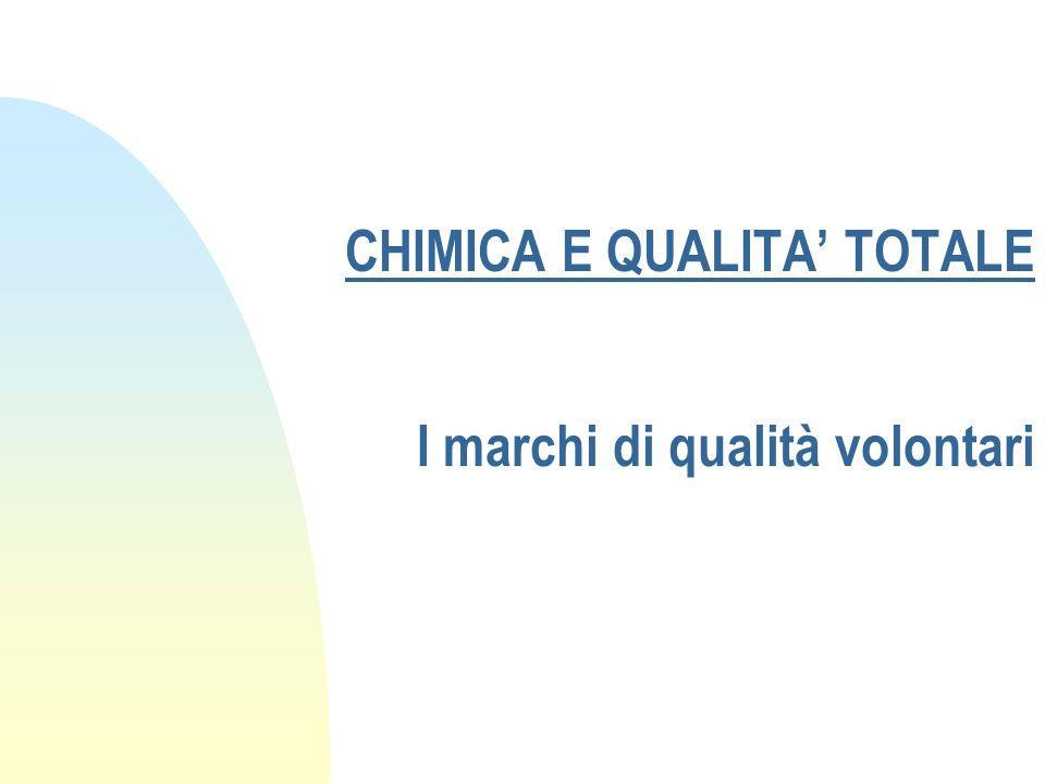 CHIMICA E QUALITA' TOTALE I marchi di qualità volontari