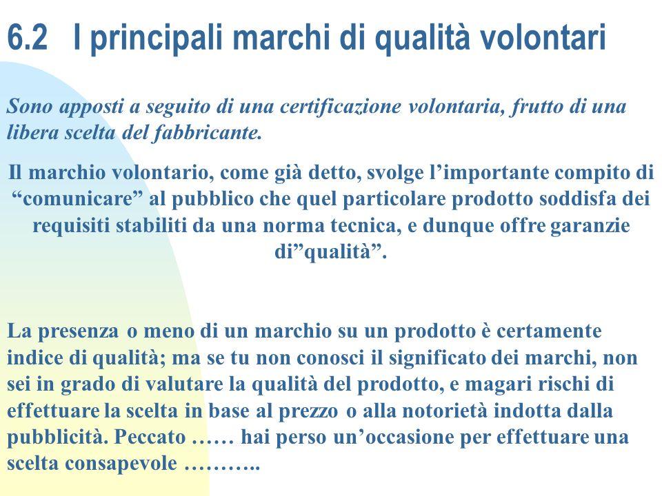 6.2 I principali marchi di qualità volontari