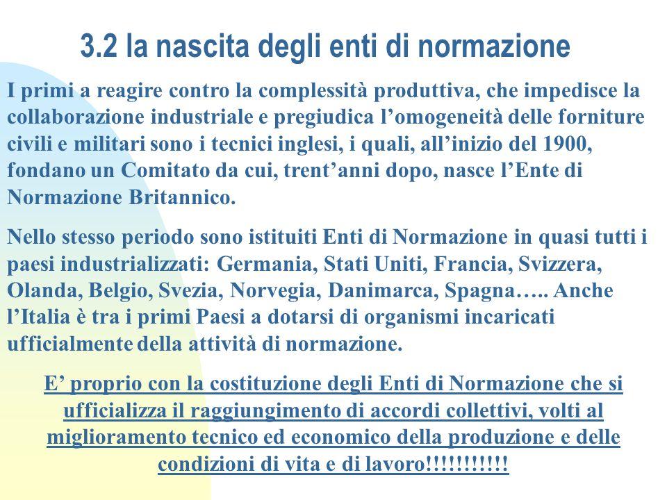 3.2 la nascita degli enti di normazione
