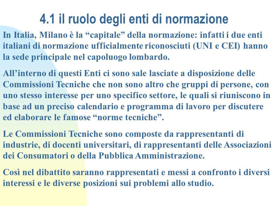 4.1 il ruolo degli enti di normazione