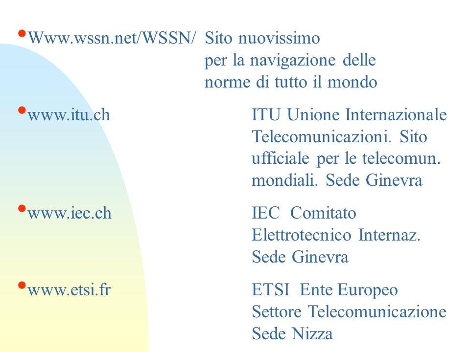 Www. wssn. net/WSSN/. Sito nuovissimo. per la navigazione delle
