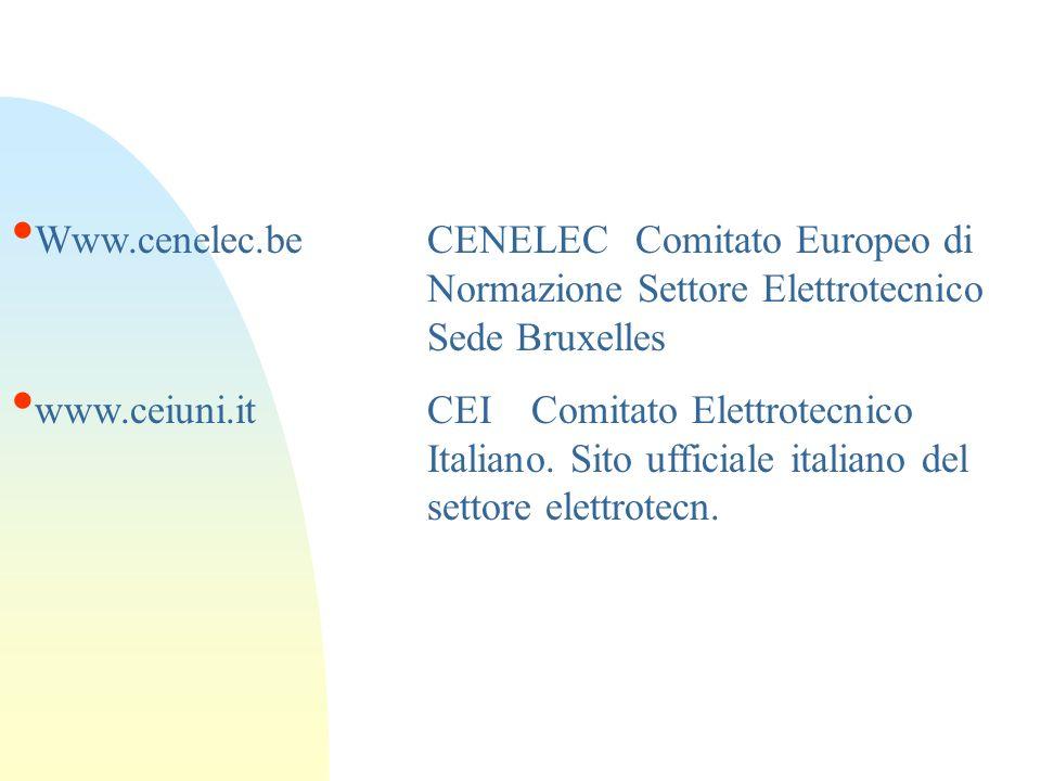 Www. cenelec. be. CENELEC. Comitato Europeo di