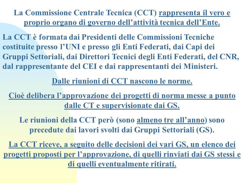 Dalle riunioni di CCT nascono le norme.