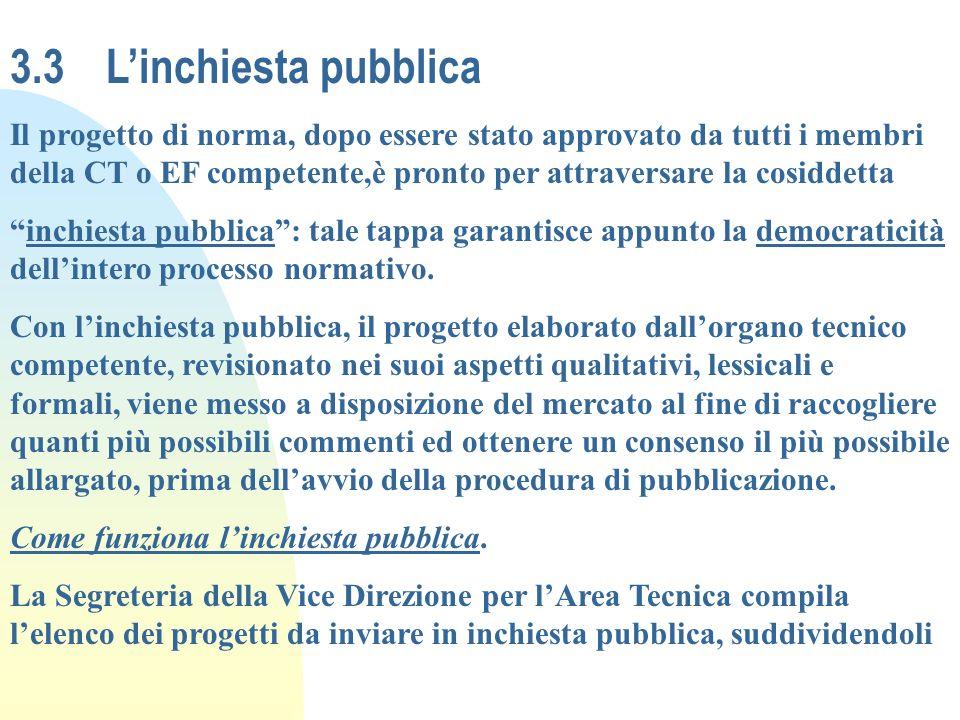 3.3 L'inchiesta pubblica