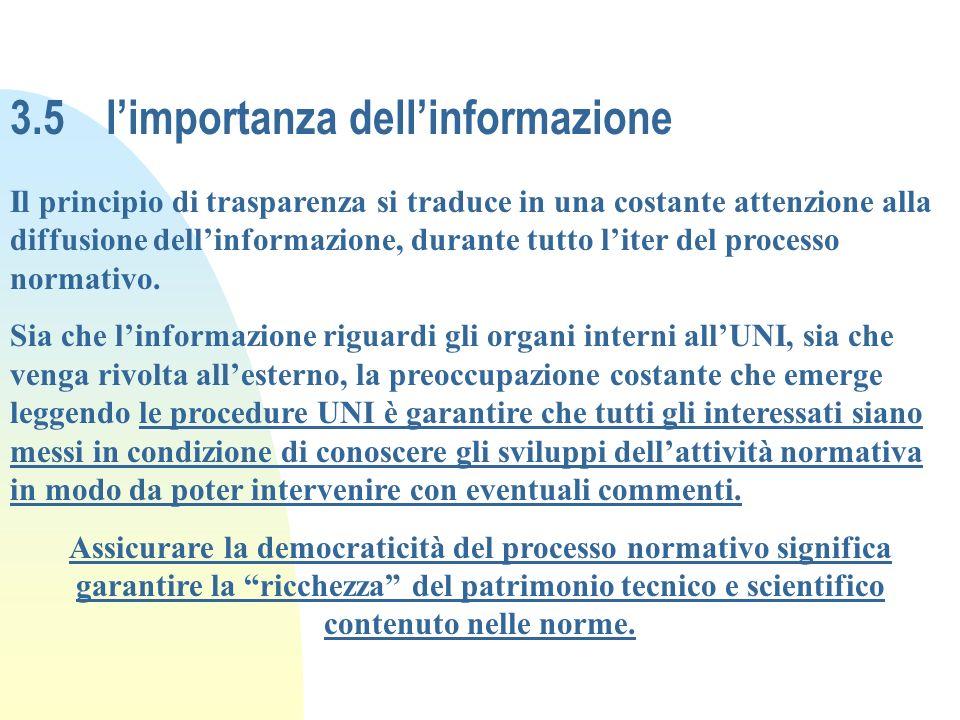 3.5 l'importanza dell'informazione