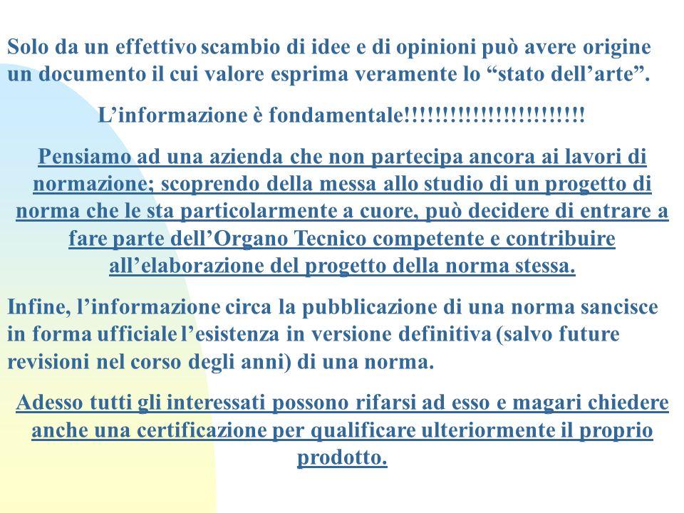 L'informazione è fondamentale!!!!!!!!!!!!!!!!!!!!!!!!