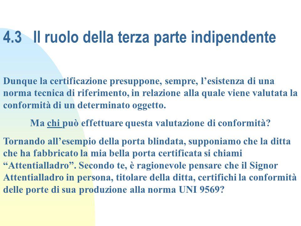 4.3 Il ruolo della terza parte indipendente