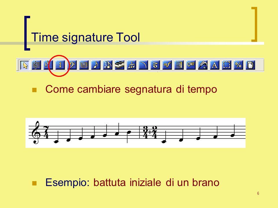 Time signature Tool Come cambiare segnatura di tempo