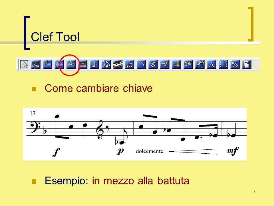 Clef Tool Come cambiare chiave Esempio: in mezzo alla battuta