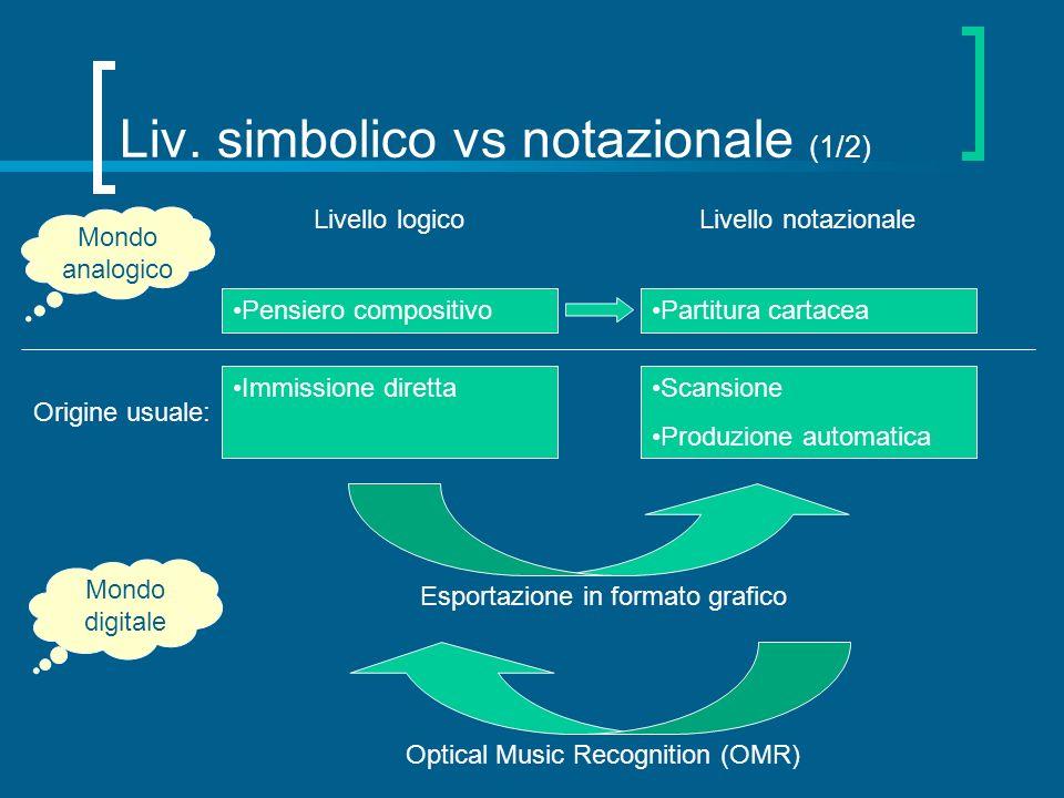 Liv. simbolico vs notazionale (1/2)