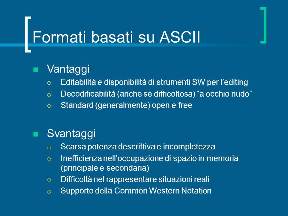 Formati basati su ASCII