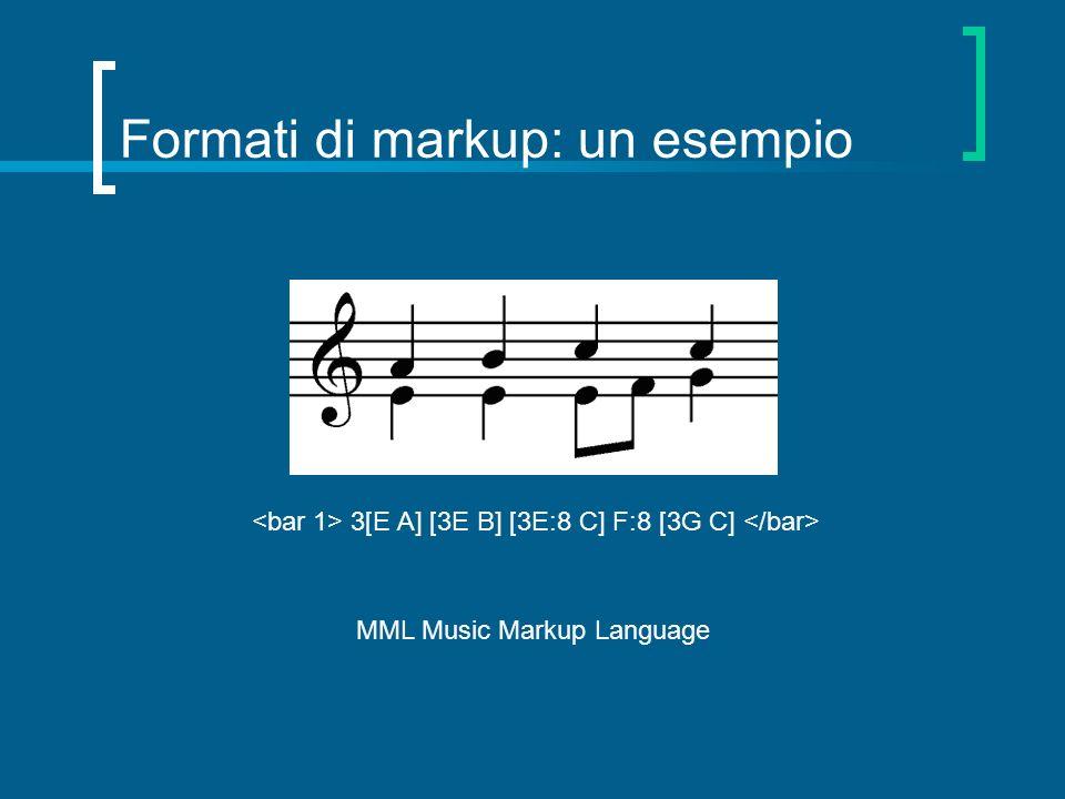 Formati di markup: un esempio