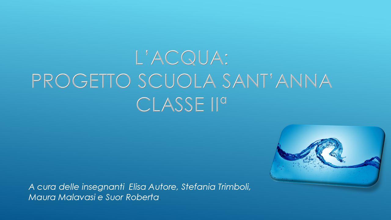 L'acqua: progetto Scuola sant'anna classe IIª