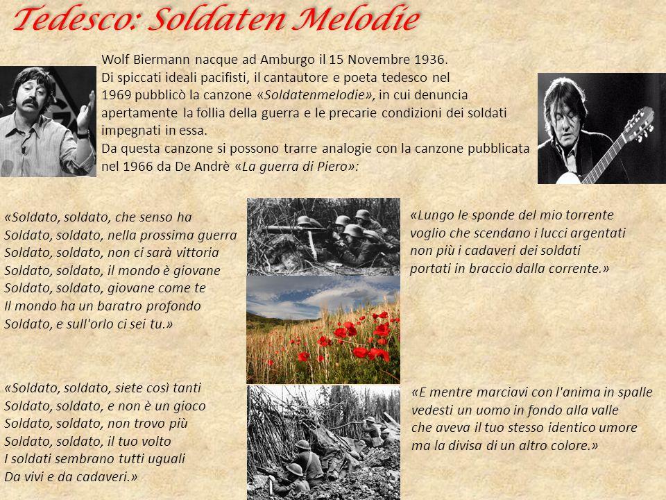 Tedesco: Soldaten Melodie