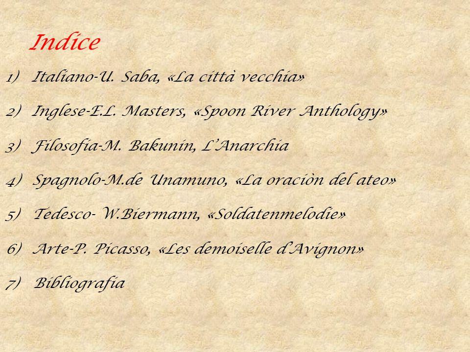 Indice Italiano-U. Saba, «La città vecchia»
