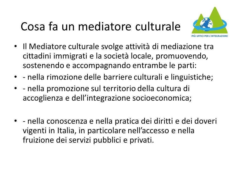 Cosa fa un mediatore culturale