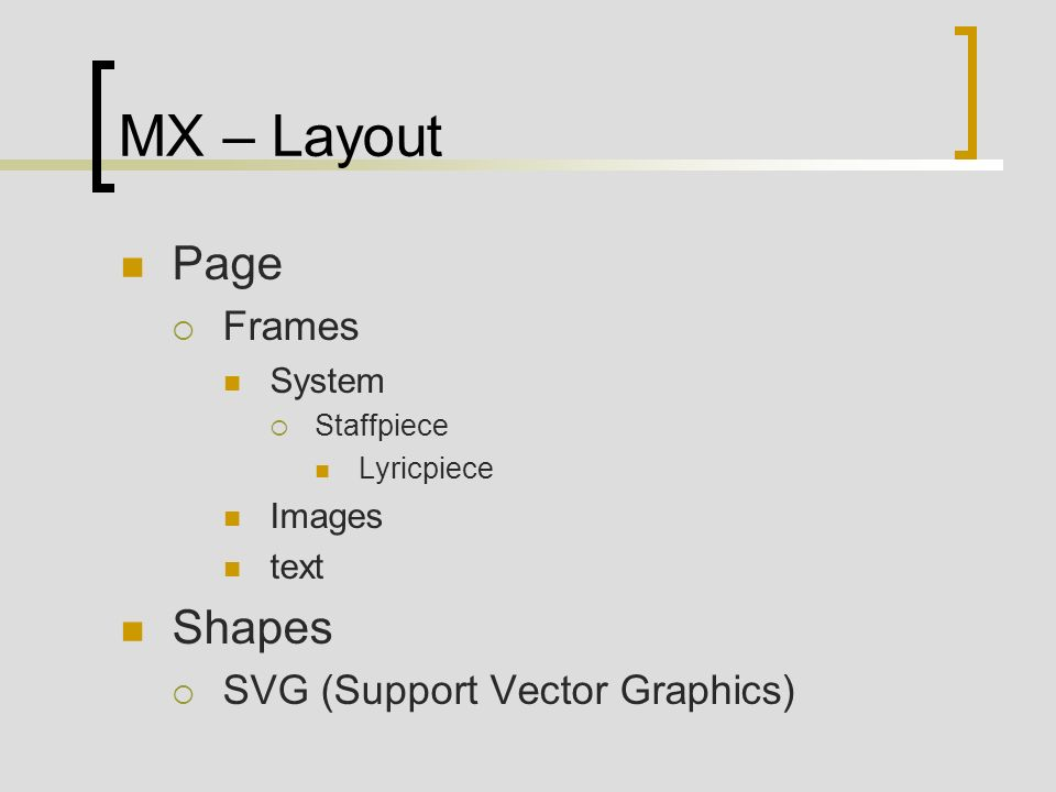 MX – Layout Page Shapes Frames SVG (Support Vector Graphics) System