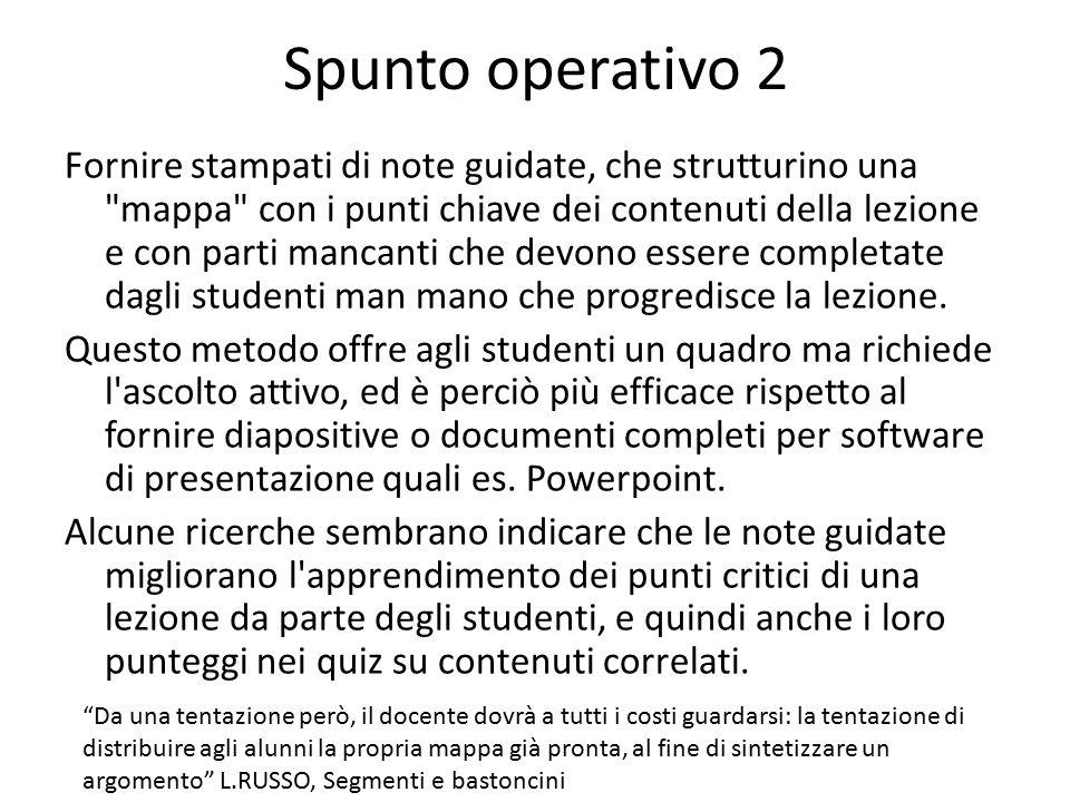 Spunto operativo 2