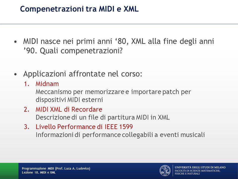 Compenetrazioni tra MIDI e XML