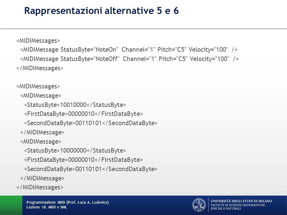 Rappresentazioni alternative 5 e 6