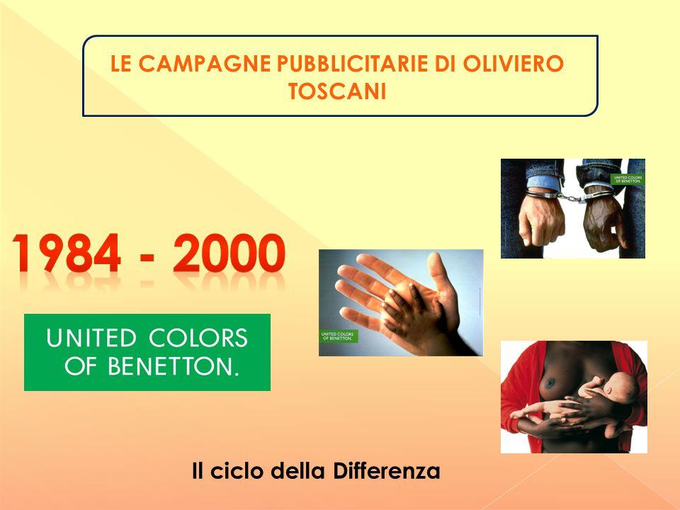LE CAMPAGNE PUBBLICITARIE DI OLIVIERO TOSCANI