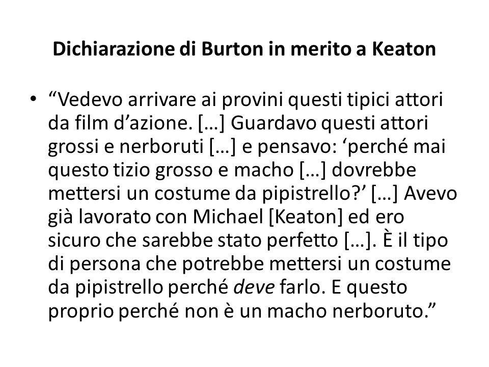 Dichiarazione di Burton in merito a Keaton