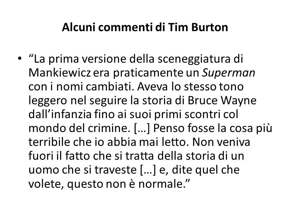 Alcuni commenti di Tim Burton