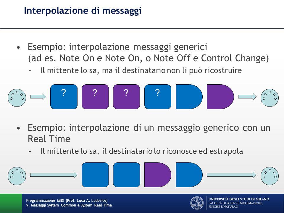 Interpolazione di messaggi