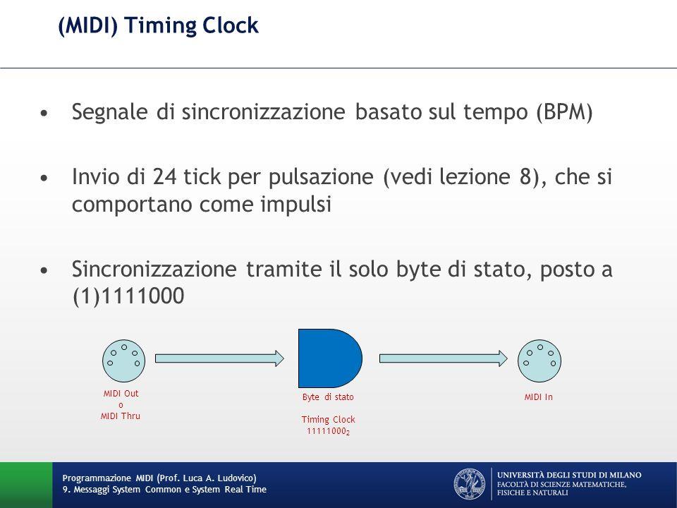 Segnale di sincronizzazione basato sul tempo (BPM)