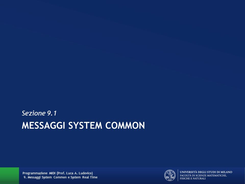 Messaggi System Common