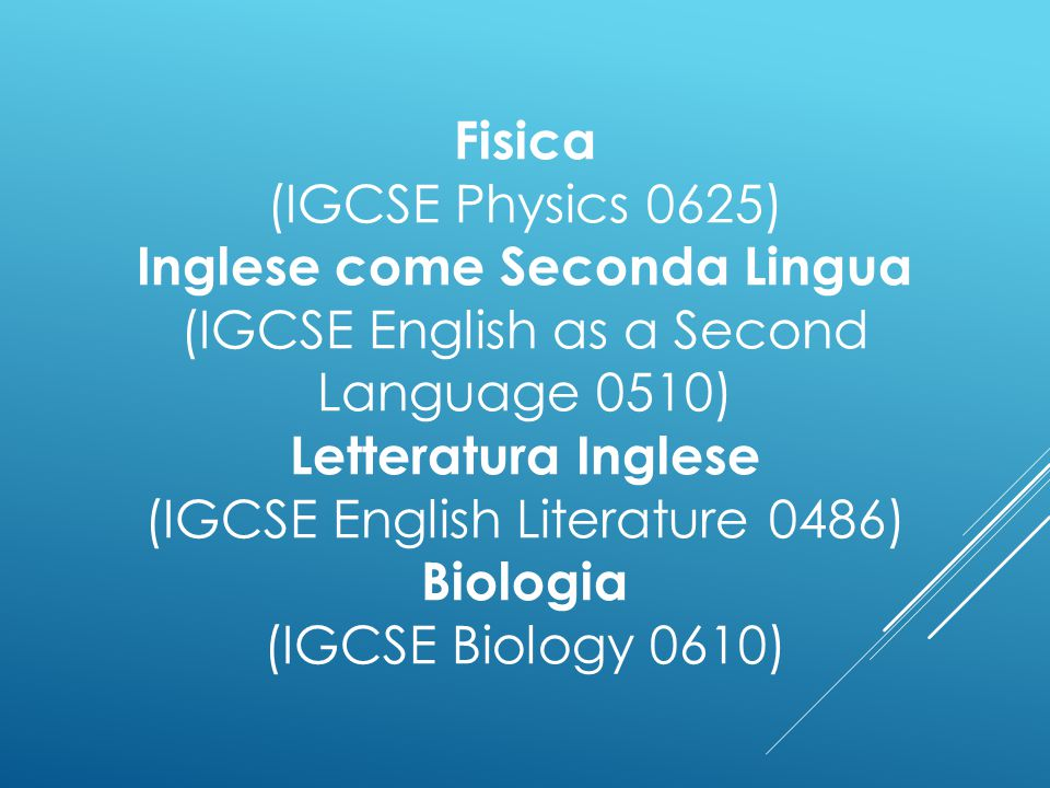 Fisica (IGCSE Physics 0625)