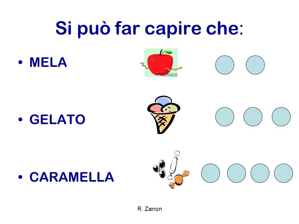 Si può far capire che: MELA GELATO CARAMELLA R. Zanon