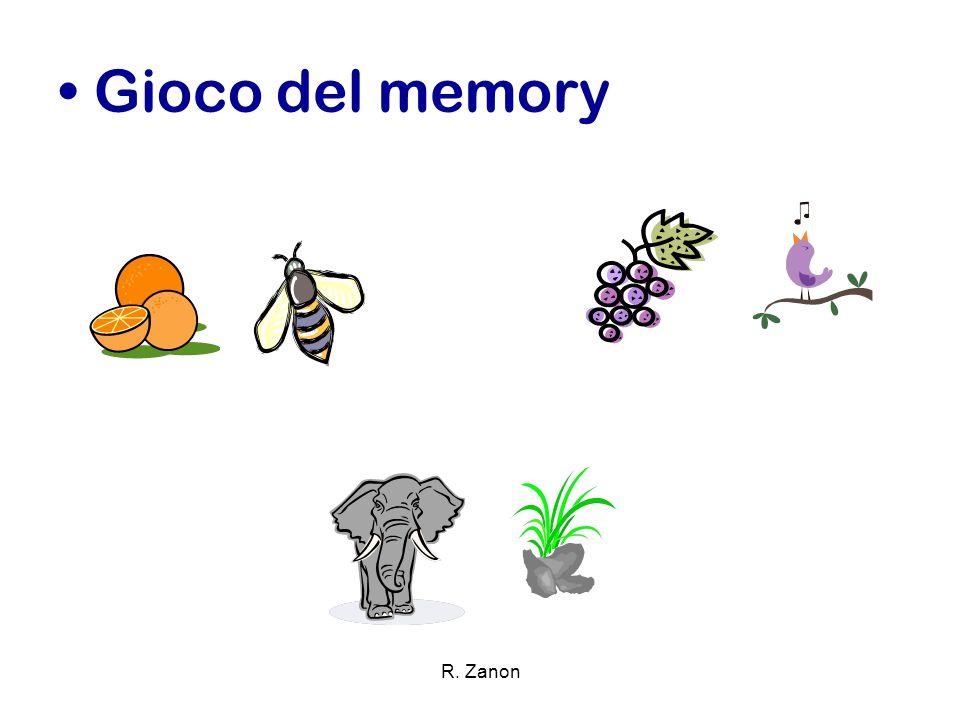 Gioco del memory R. Zanon