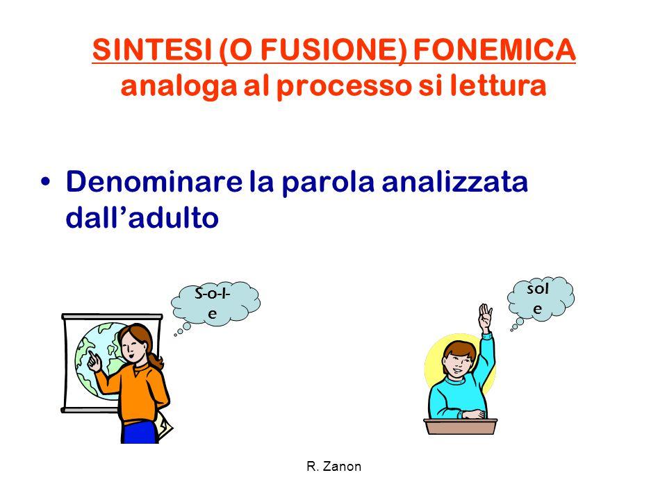 SINTESI (O FUSIONE) FONEMICA analoga al processo si lettura