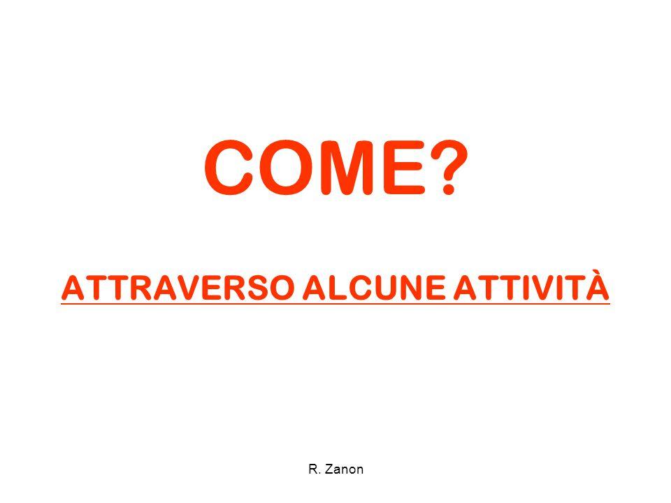 ATTRAVERSO ALCUNE ATTIVITÀ