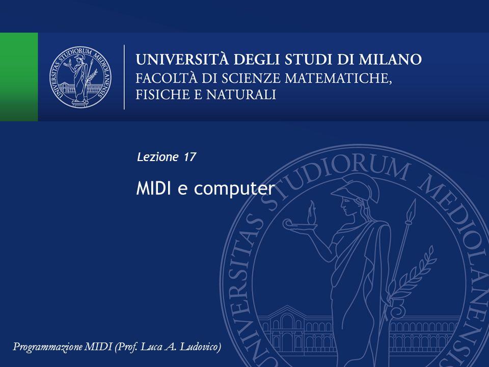 MIDI e computer Lezione 17