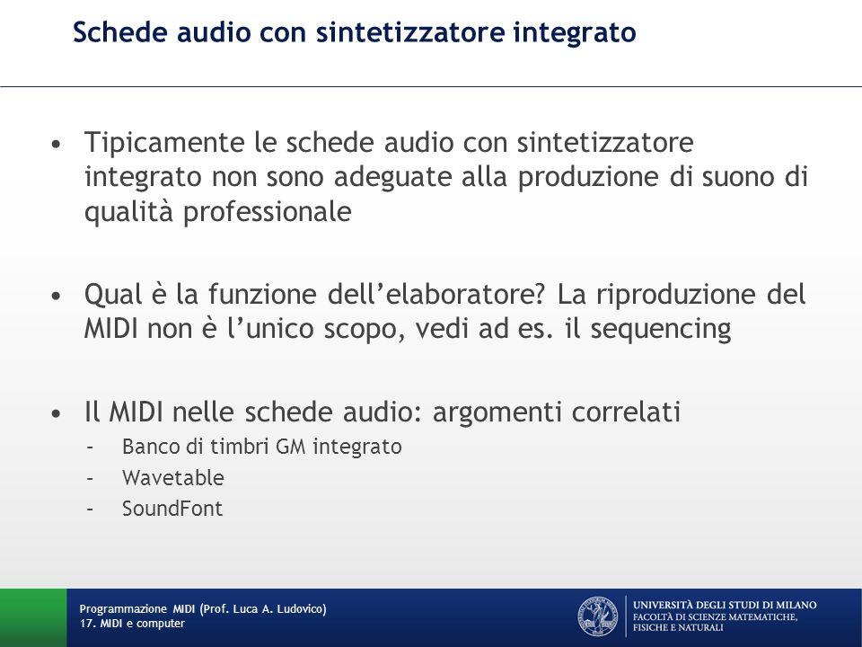 Schede audio con sintetizzatore integrato
