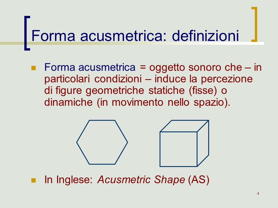 Forma acusmetrica: definizioni