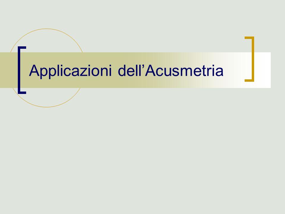 Applicazioni dell'Acusmetria