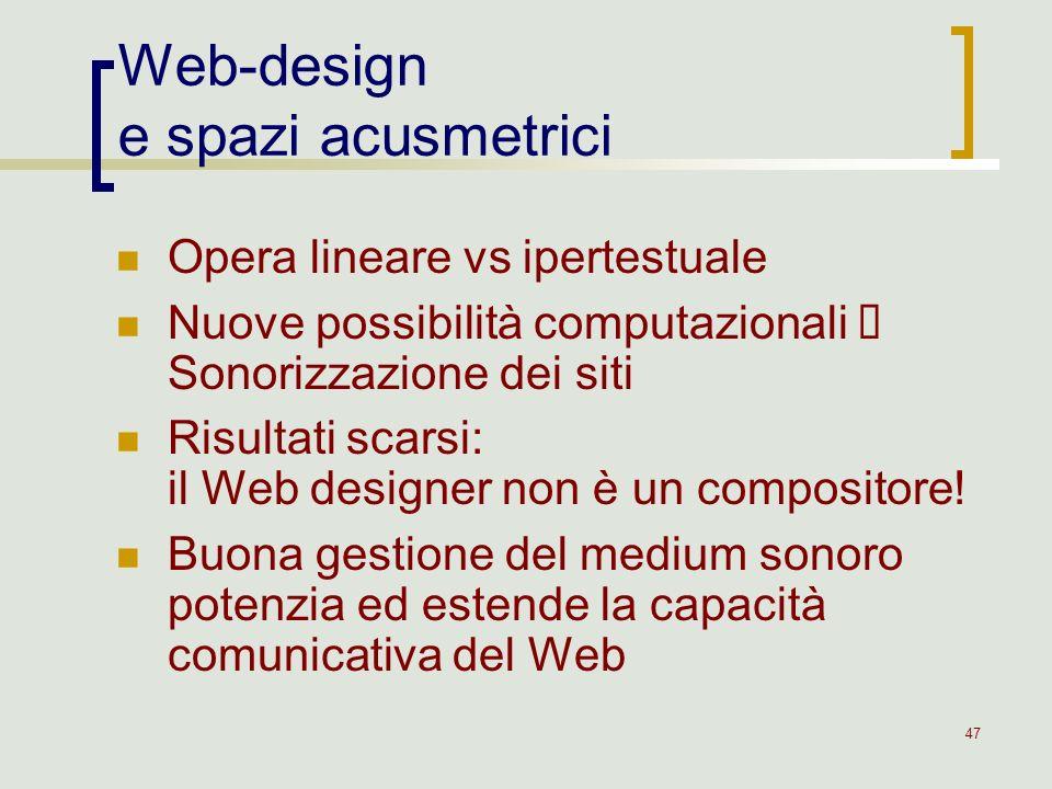 Web-design e spazi acusmetrici