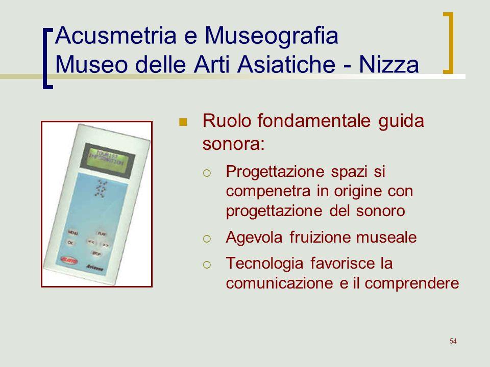 Acusmetria e Museografia Museo delle Arti Asiatiche - Nizza