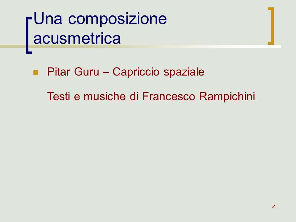 Una composizione acusmetrica
