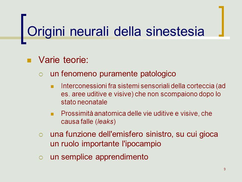 Origini neurali della sinestesia