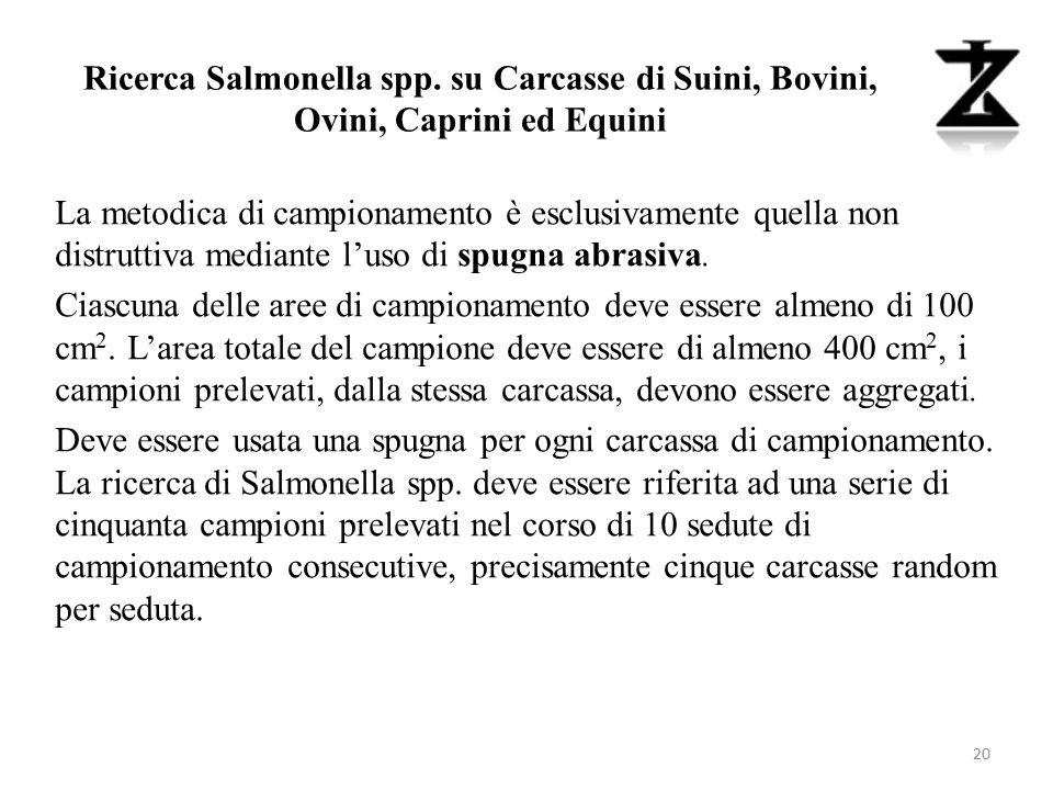 Ricerca Salmonella spp