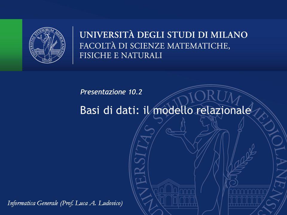 Basi di dati: il modello relazionale