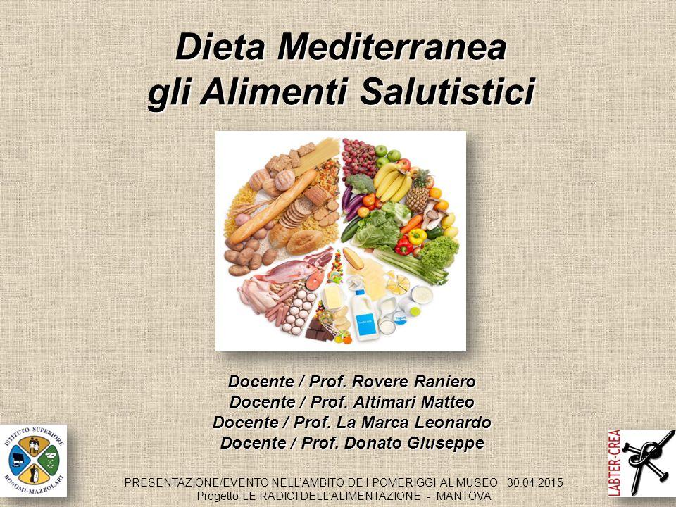 gli Alimenti Salutistici Docente / Prof. Rovere Raniero