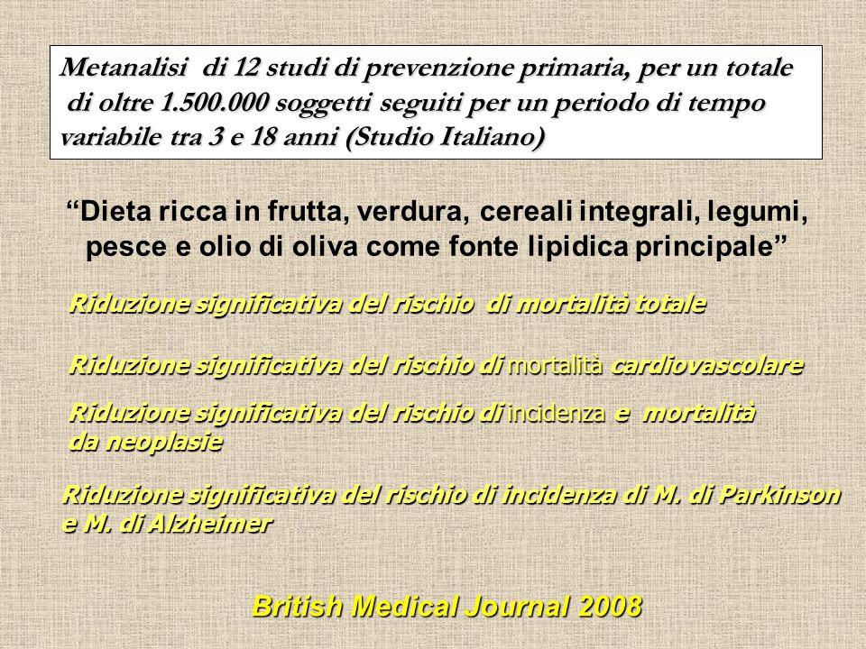 Metanalisi di 12 studi di prevenzione primaria, per un totale